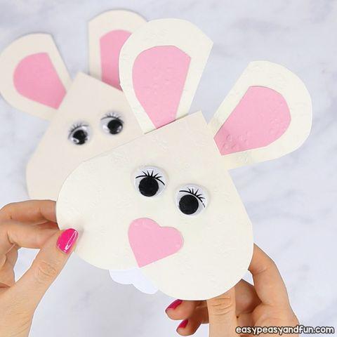 heart shaped bunny card diy easter cards