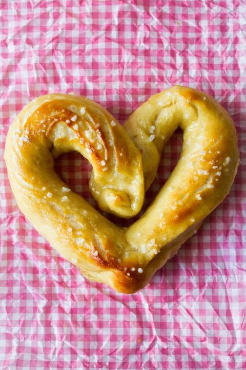 heart butter pretzels - heart shaped foods