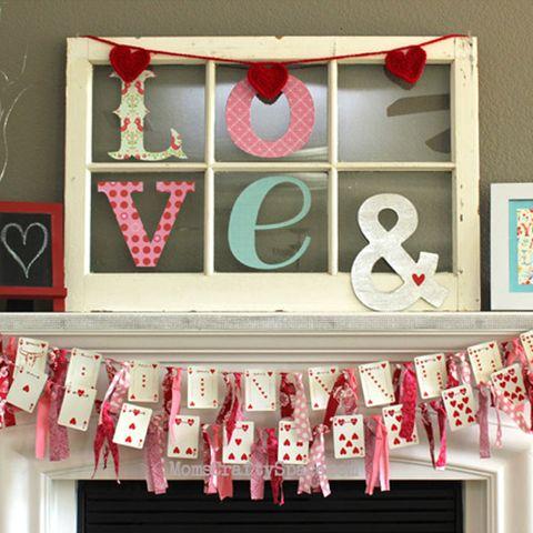 valentine's day heart cards garland