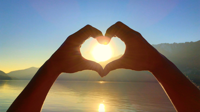 hjerteform og sol