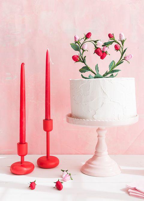 bee93e02b8b8 heart shaped cake topper bridal shower idea