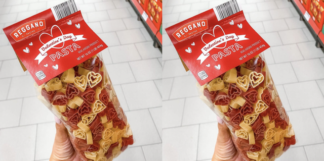 aldi reggano heart shaped pasta