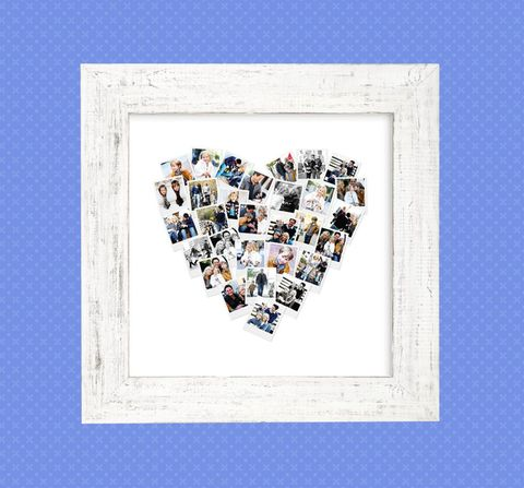 Minted heart snapshot mix photo art gift