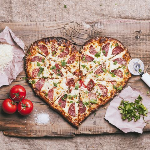 Image result for heart shaped pizza