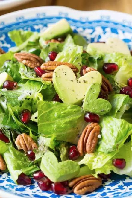 heart shaped salad - heart shaped foods