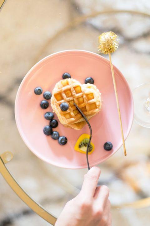 heart waffles - heart shaped foods