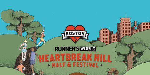 Runner's World Heartbreak Hill Half Marathon poster