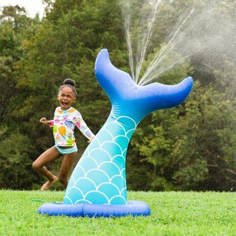 inflatable mermaid tail sprinkler