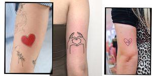 Heart-shaped tattoo ideas
