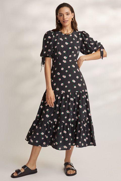 kitri black floral dress