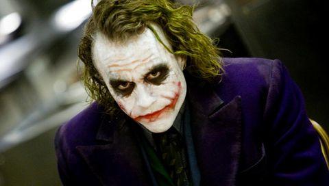 Heath Ledger sebagai Joker di Dark Knight Rises.