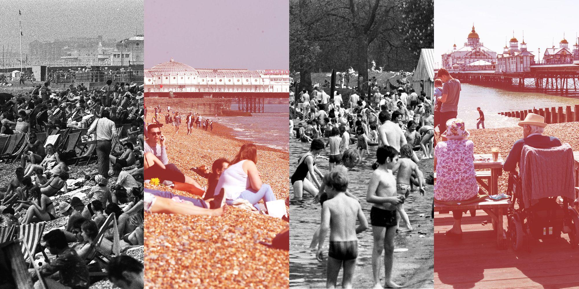 UK heatwave 2018 and 1976