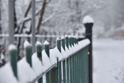 Heavy Snow Falls In Sheffield