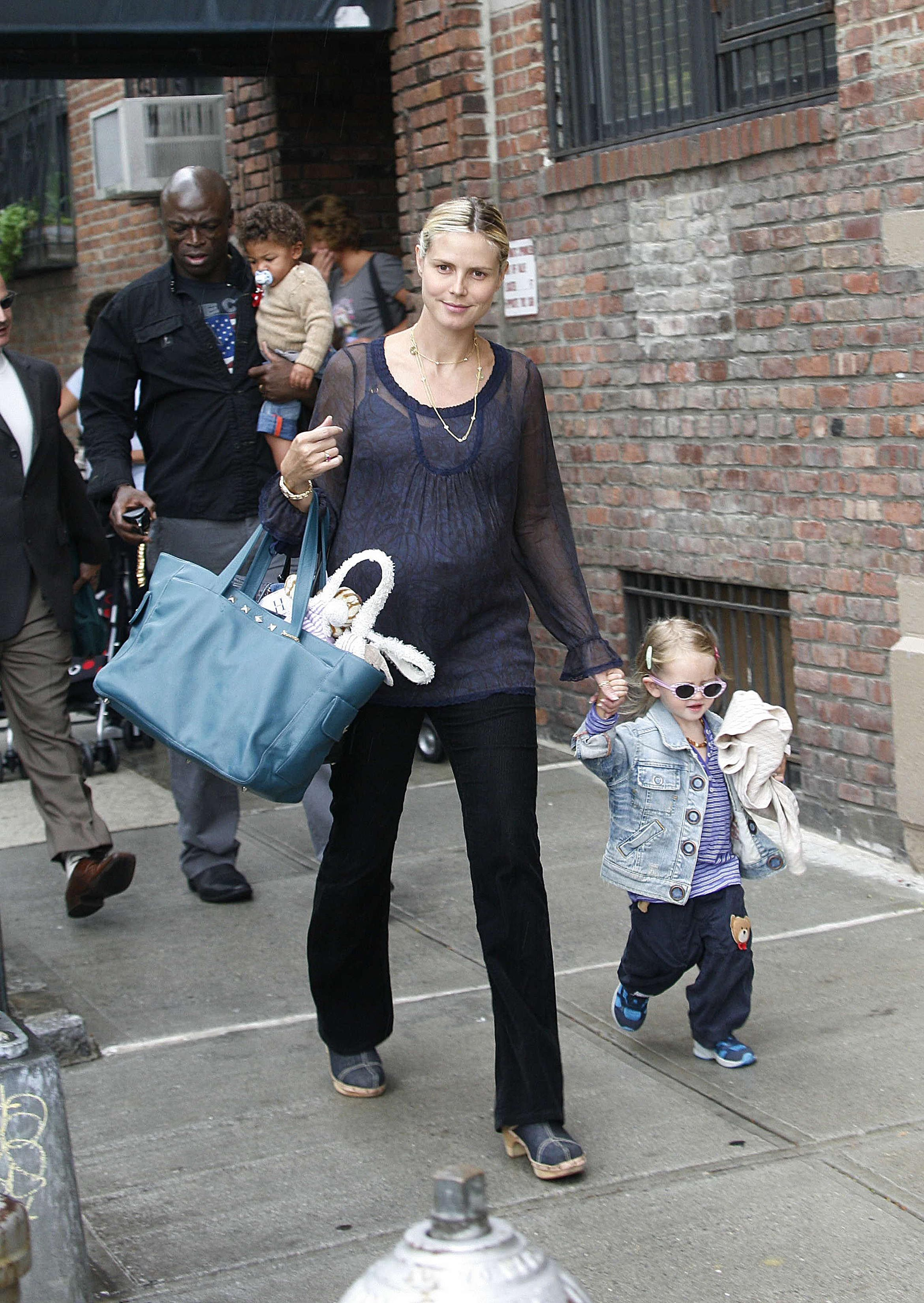 Heidi Klum  and  Seal  Sighting  with  Family  in Chelsea - September 5, 2006