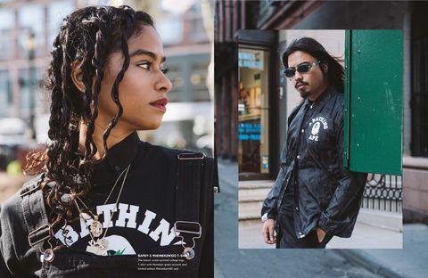 Hair, Eyewear, Street fashion, Cool, Hairstyle, Fashion, Leather, Sunglasses, Black hair, Glasses,