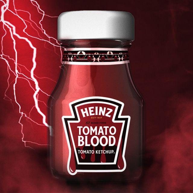 heinz tomato blood ketchup