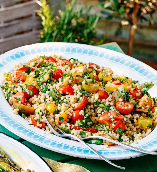 heirloom tomato and giant couscous salad