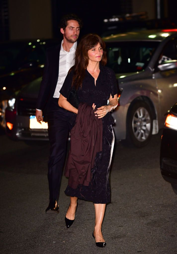 The Danish model and photographer was spotted arriving at the reception.