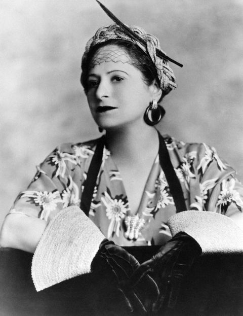 Helena Rubinstein in a fashion photoshoot