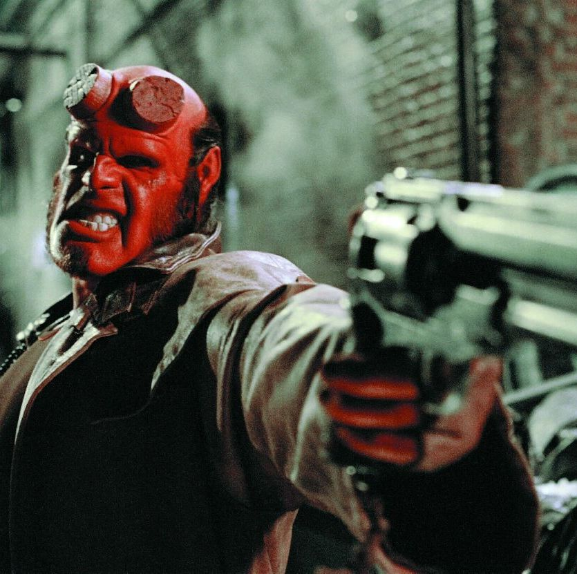Hellboy Ron Perlman leads a ragtag crew of unexpected superheroes, playing the titular demon-turned-good-guy who protects the world from destruction in Guillermo Del Toro's inventive comic book adaptation.