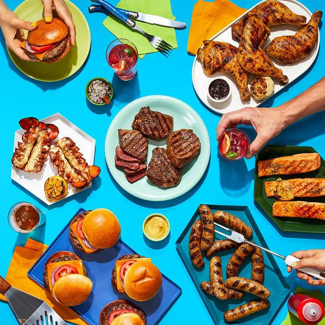 hello fresh meal delivery box with grilled food
