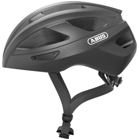 abus fietshelm helm wielrennen grijs glanzend