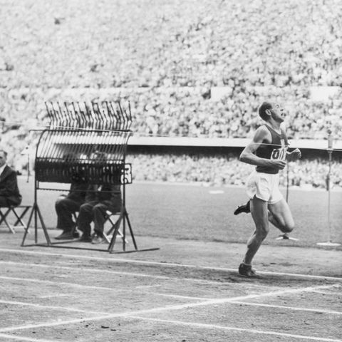 finish of 5000 meters at olympics