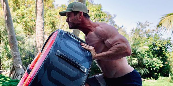 The actor looks more swole than ever in his latest Instagram workout.