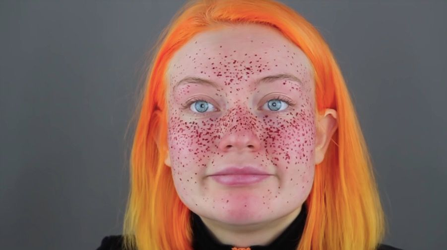 This Youtuber Tried To Give Herself Henna Freckles And Needless To