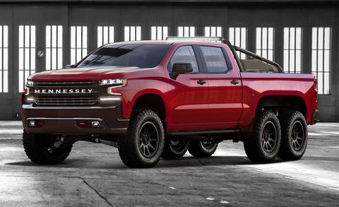 Chevy Reaper Price >> Hennessey Goliath 6x6 Is A 2019 Chevy Silverado With Six Wheels