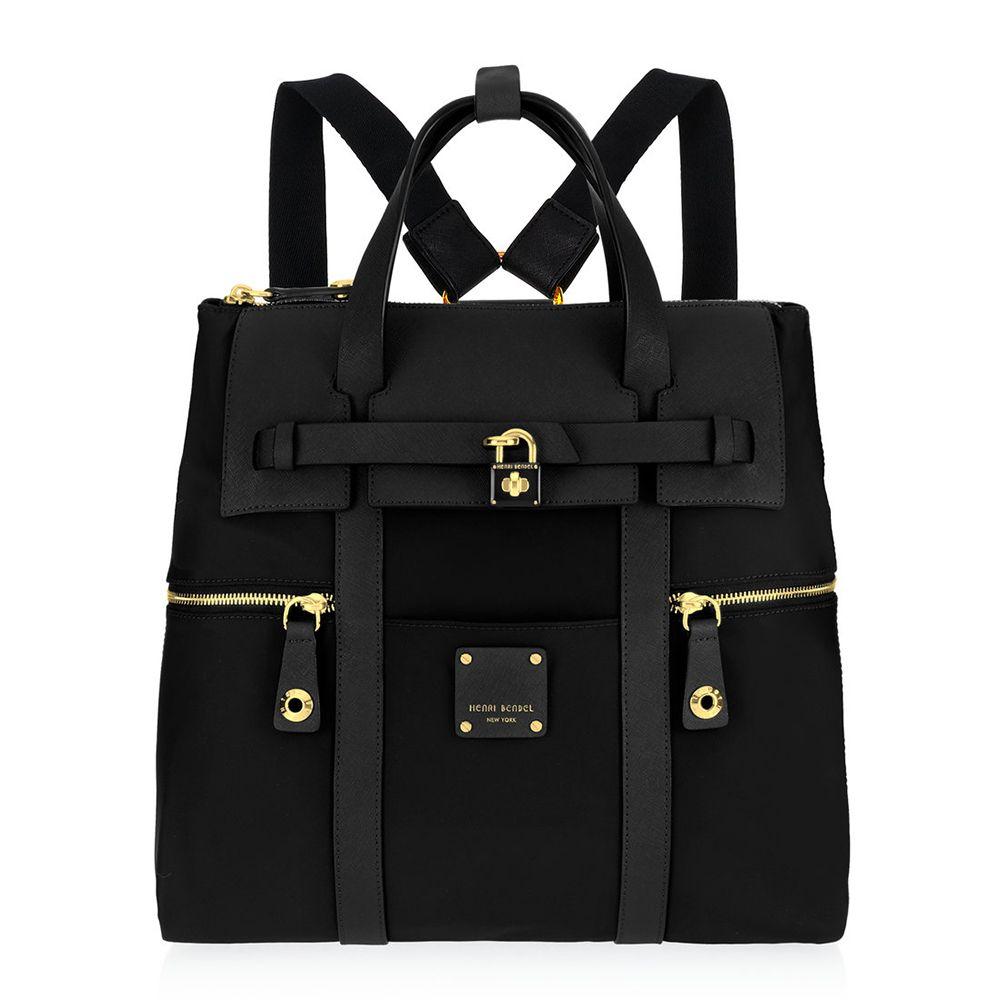 henri bendel jetsetter backpack black