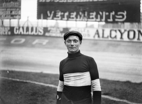 Henri Cornet, French racing cyclist, in 1905. BRA-