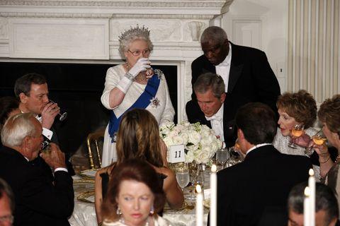 President Bush Hosts Queen Elizabeth At The White House