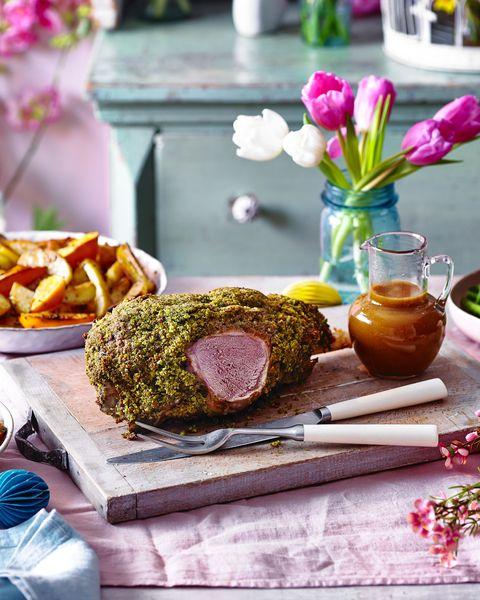 best lamb recipes herb crumbed leg of lamb