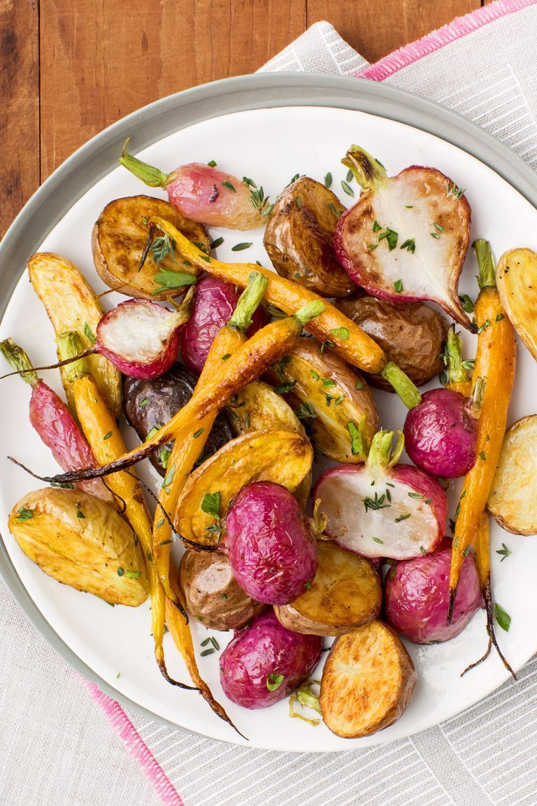 Herb Roasted Root Vegetables - Side Dishes for Ham
