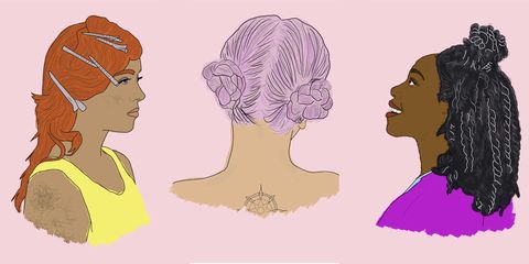 Hair, Face, Head, Hairstyle, Chin, Cheek, Forehead, Illustration, Neck, Jaw,