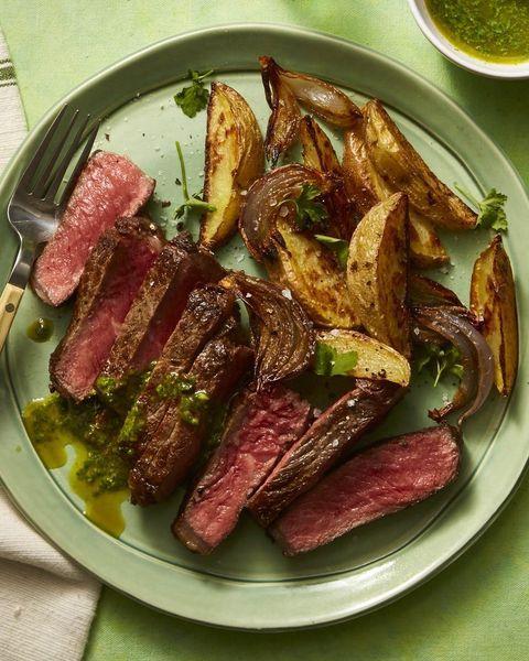 herbed mojo steak and crispy potatoes
