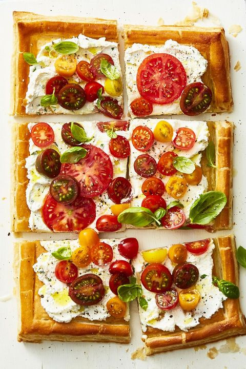 herbed ricotta and fresh tomato tart