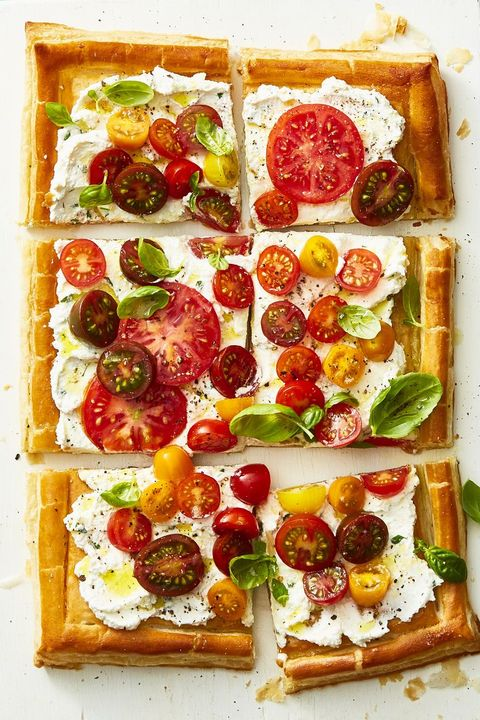 Herbed Ricotta and Fresh Tomato Tart - Summer Dinner Recipes