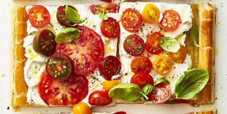 Herbed Ricotta and Fresh Tomato Tart - Mother's Day Dinner
