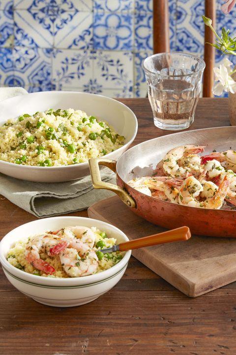 shrimp and couscous dish
