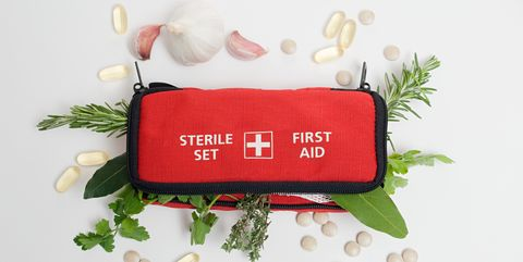 herbs in first aid kit - First Aid Supplies