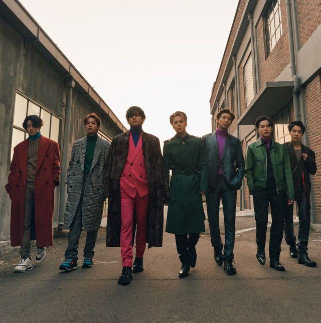 esquire(エスクァイア),表紙,bts,ファッション,v,rm,j hope,ジョングク,ジミン,suga,ジン,