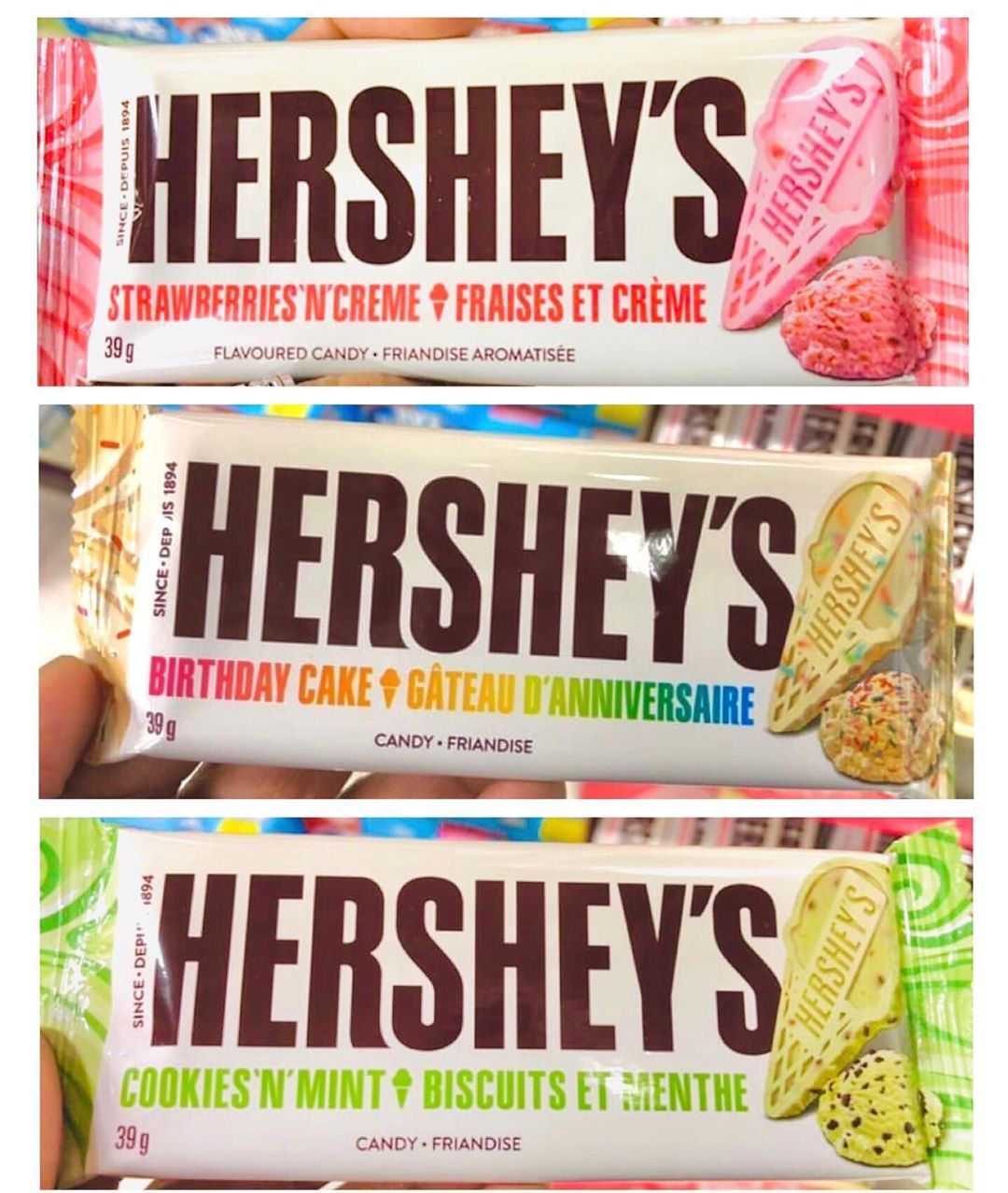 Hershey's Has New Bars In Flavors Like Cookies 'N' Mint And Birthday Cake