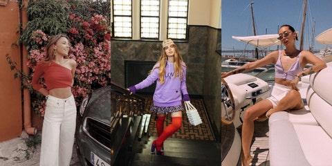 Clothing, Vehicle, Car, Fashion, Street fashion, Waist, Model, City car, Crop top, Photo shoot,
