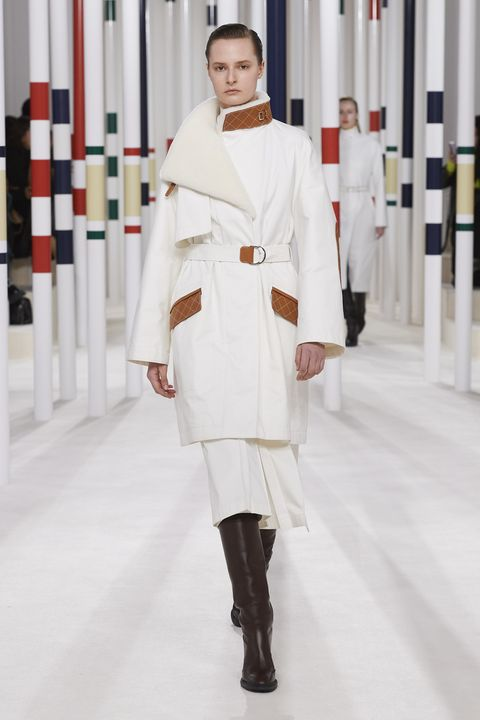 White, Fashion, Clothing, Runway, Fashion model, Fashion design, Haute couture, Fashion show, Uniform, Outerwear,