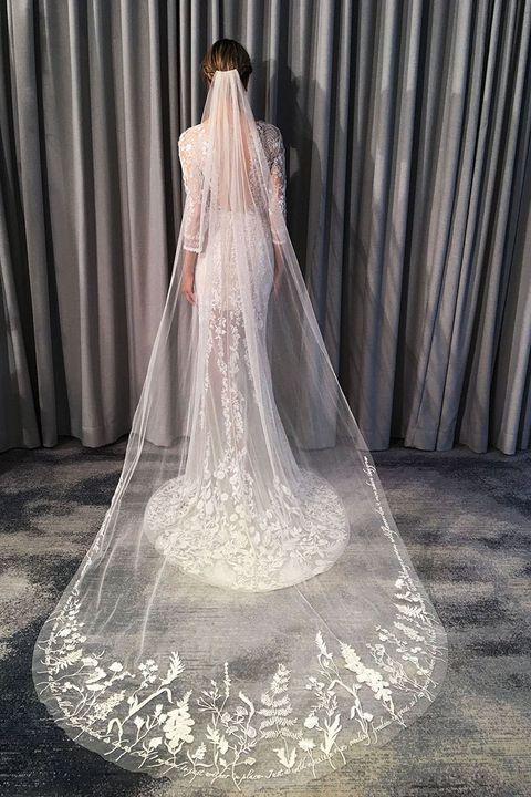 Veil, Bridal accessory, Bridal veil, Dress, Bride, Wedding dress, Gown, Clothing, Bridal party dress, Bridal clothing,