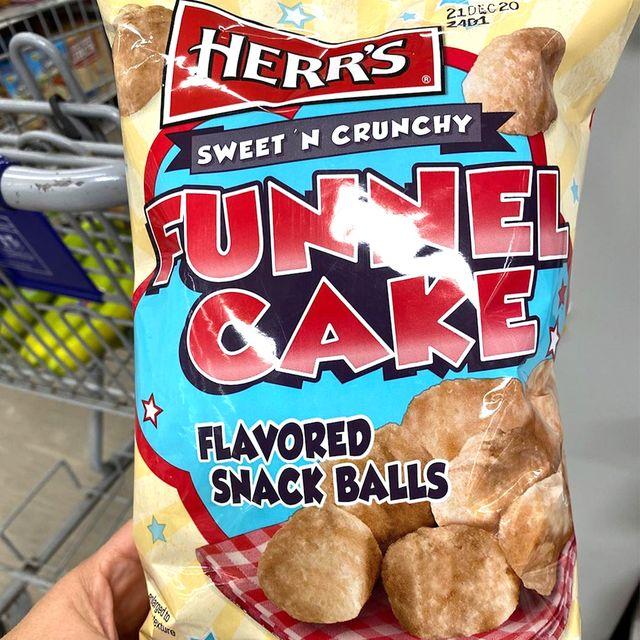 herr's funnel cake flavored snack balls