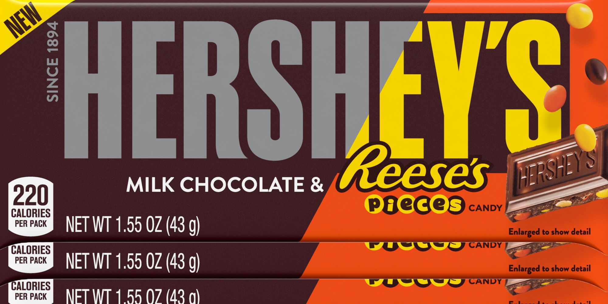Hersheys New Chocolate Bar Is Filled With Reeses Pieces