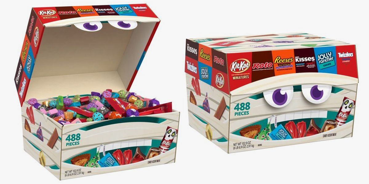 Walmart Is Selling a Giant Halloween Box That's Filled With 488 Pieces of Hershey's Candy